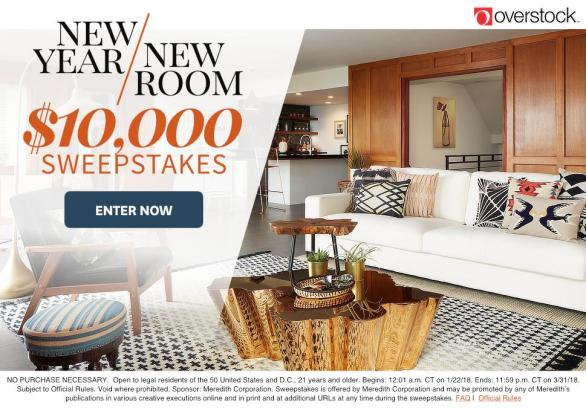 BHG And Overstock New Year, New Room Sweepstakes