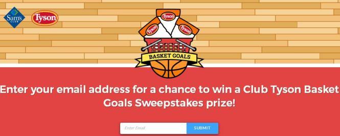 Club Tyson Basket Goals Sweepstakes