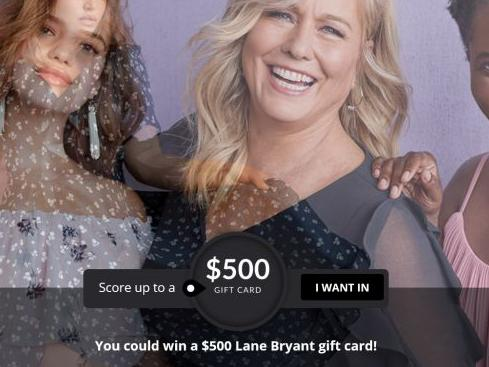 $500 Lane Bryant Gift Card Quikly Sweepstakes -Chance to Win Gift Card Prizes