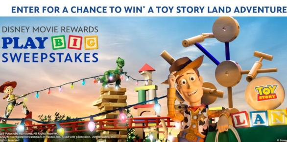 The Disney Movie Rewards Play Big Sweepstakes – Chance to Win A Vacation Package