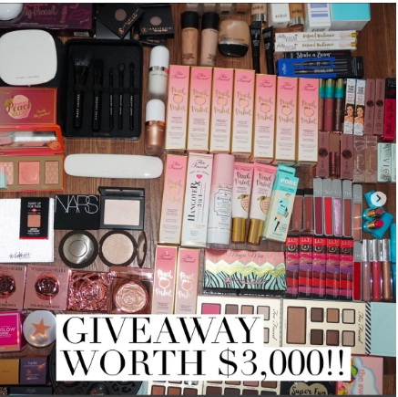 $3000 Makeup Giveaway - Chance To Win Makeup And Goodies Worth $3,000