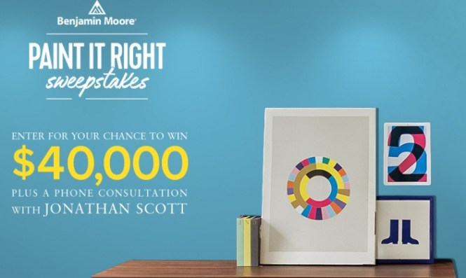 Benjamin Moore HGTV Paint It Right Sweepstakes - Win $ 40,000 Check