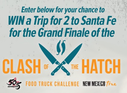 New Mexico True nor 505 Southwestern Clash of the Hatch Sweepstakes - Win a Trip