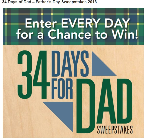 Popular Woodworking 34 Days of Dad Sweepstakes - Win Lots of Prizes