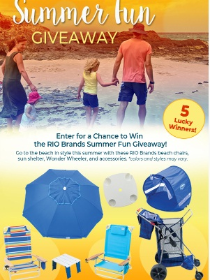 RIO Brands Summer Fun Giveaway - Win Two Chairs, One Umbrella And Many More Prizes