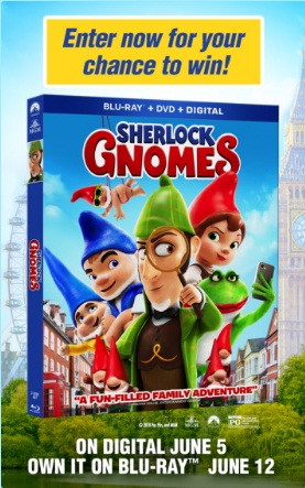 Sherlock Gnomes And Mrs Fields London Vacation Sweepstakes - Win A Trip