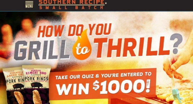 Southern Recipe Small Batch Grill to Thrill Sweepstakes - Win $1,000