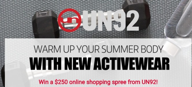 Warm Up Your Summer Body With New Activewear Sweepstakes - Win A Shopping Spree