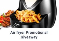 Air fryer Promotional Giveaway