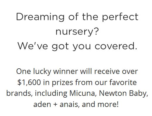 Dream Nursery Sweepstakes