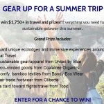Gear Up For A Sustainable Summer Adventure Sweepstakes