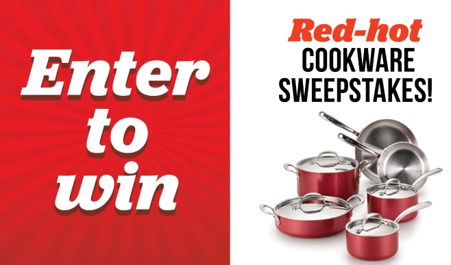 Lagostina Rossella Collection Red-Hot Cookware Sweepstakes