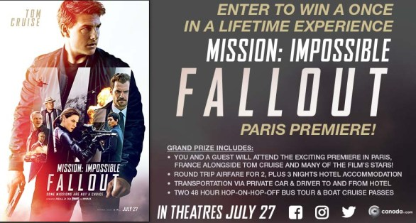 Mission Impossible Fallout Contest