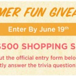 Shoe Mall Summer Fun Giveaway