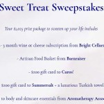 Sweet Treat Sweepstakes
