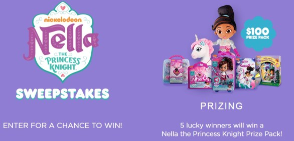 Nella The Princess Knight Sweepstakes