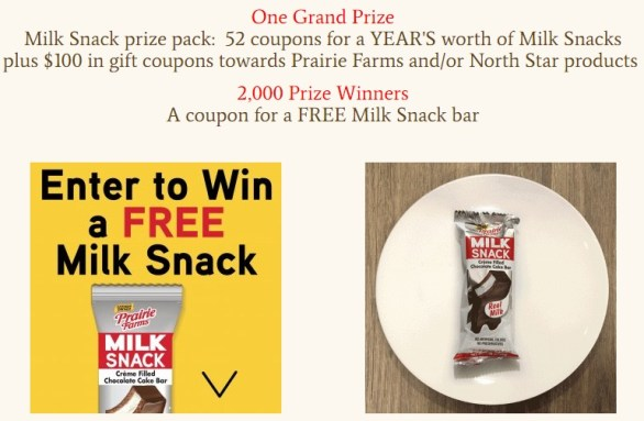Prairie Farms Milk Snack Payback Sweepstakes
