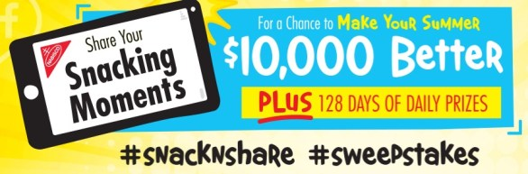 Snack 'N Share Sweepstakes And Instant Win Game