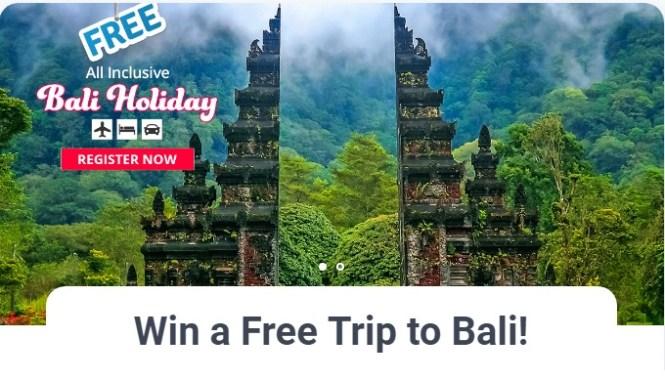 Trip To Bali Sweepstakes