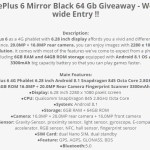 OnePlus 6 Giveaway