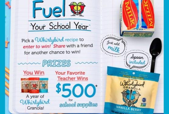 Whirlybird Granola Back To School Sweepstakes