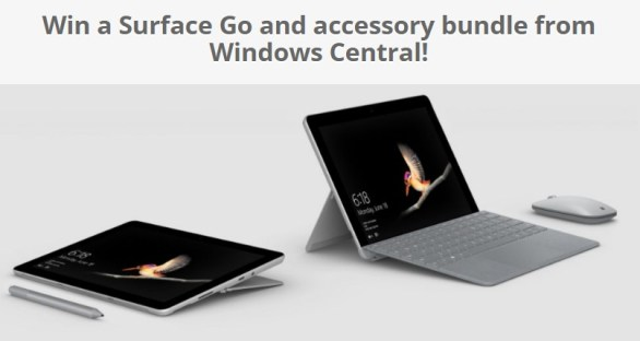 Windows Central Surface Go Giveaway
