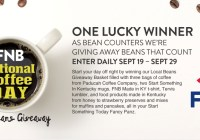 FNB Bank Local Beans Giveaway