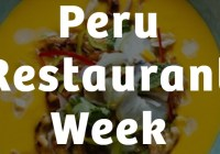 Peru Restaurant Week Sweepstakes