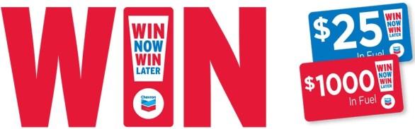 Chevron Win Now Win Later Contest