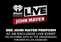 iHeartRadio John Mayer Sweepstakes