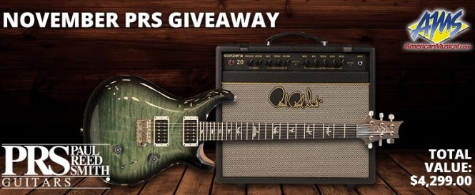 PRS Guitar Rig Giveaway - Chance To Win Guitars Core Series