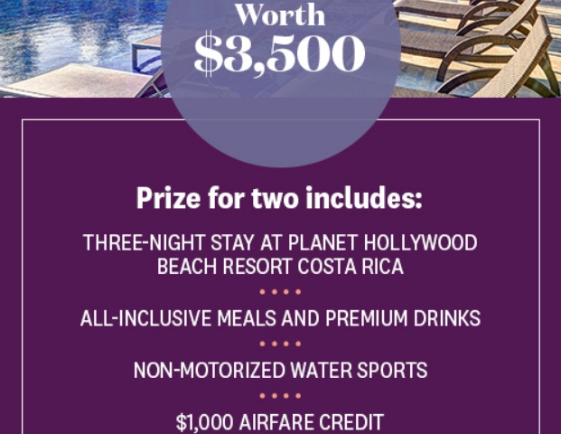 Women's Health/Planet Hollywood Costa Rica Getaway Sweepstakes