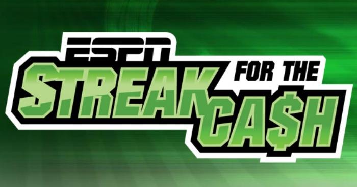 ESPN Enterprises ESPN Streak For Cash Sweepstakes