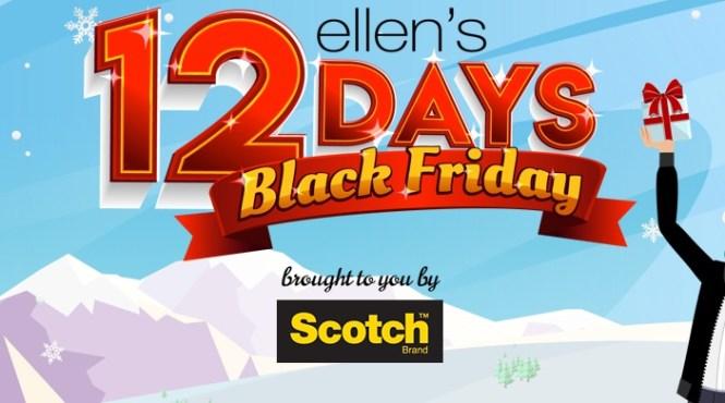 Ellentube 12 Days Black Friday Giveaway