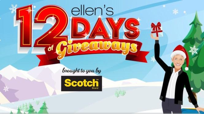 Ellentube 12 Days Of Giveaways Sweepstakes