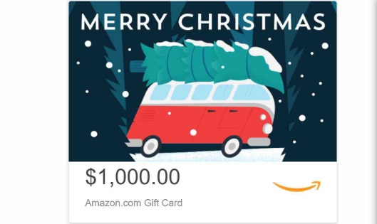 Weber Books $1,000 Amazon eGift Card Giveaway