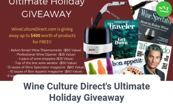 Wine Culture Direct Ultimate Holiday Giveaway