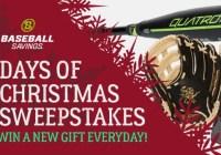 Rawlings/BaseballSavings 12 Days Of Christmas Sweepstakes