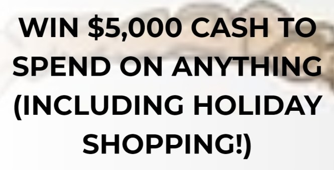 $5000 Dream Holiday Giveaway
