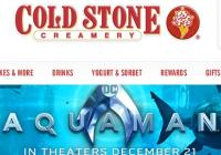 Cold Stone Creamery Aquaman Sweepstakes