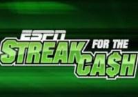 ESPN December 2018 Streak For The Cash Challenge
