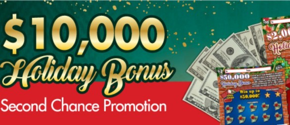 Florida Lottery $10,000 Holiday Bonus Second Chance Promotion