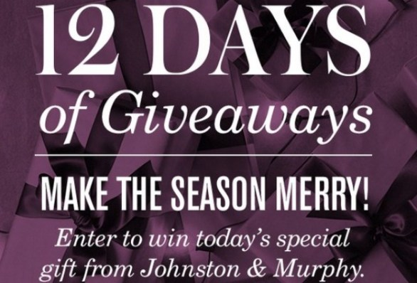 Johnston & Murphy 12 Days Of Giveaways