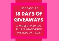 Kiddo And Soul 18 Days Of Giveaways
