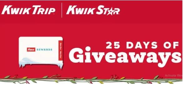 Kwik Trip 25 Days Of Giveaways