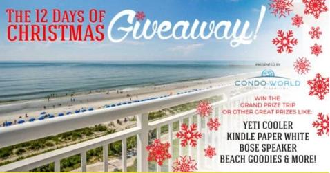 Myrtle Beach 12 Days of Christmas Giveaway