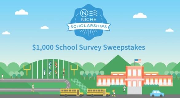 Niche $1000 School Survey Sweepstakes