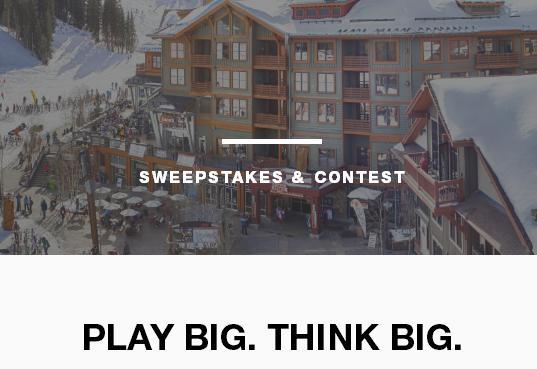 Subaru Play Big Think Big Sweepstakes