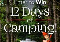 Thousand Trails 12 Days of Camping Giveaway