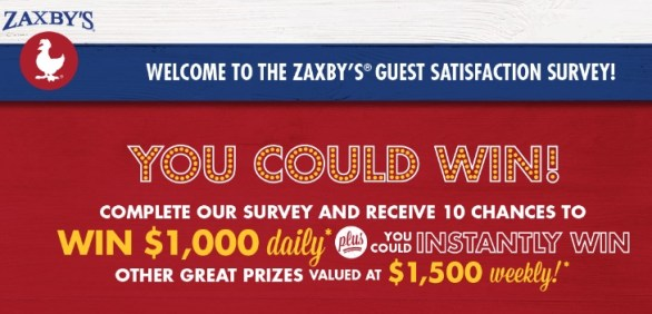 Zaxby Guest Satisfaction Survey Sweepstakes